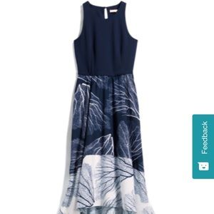 Hutch high low max dress in navy